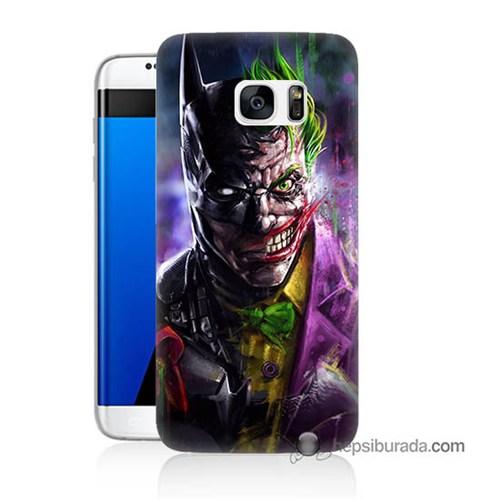 Teknomeg Samsung Galaxy S7 Edge Kılıf Kapak Batman Vs Joker Baskılı Silikon