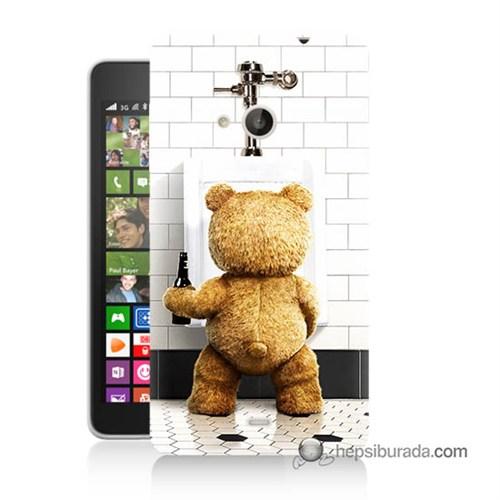 Teknomeg Nokia Lumia 535 Kılıf Kapak Tedy Bear Baskılı Silikon
