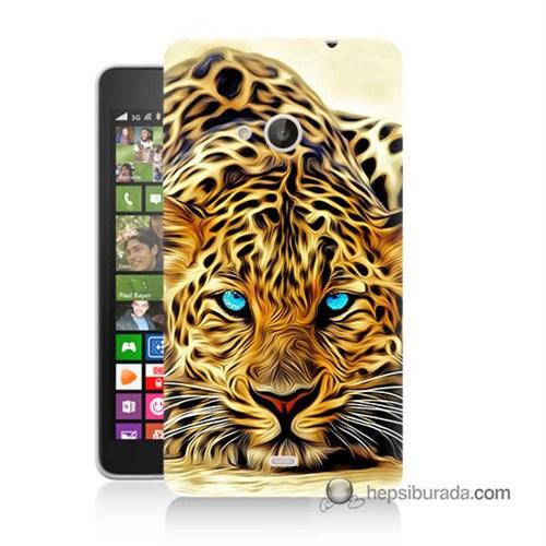 Teknomeg Nokia Lumia 535 Kılıf Kapak Kaplan Baskılı Silikon
