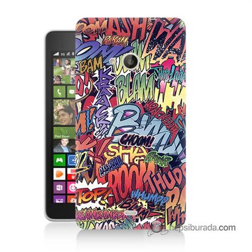 Teknomeg Nokia Lumia 535 Kılıf Kapak Efekt Baskılı Silikon