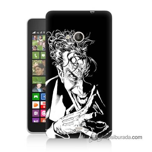 Teknomeg Nokia Lumia 535 Kapak Kılıf Gülen Joker Baskılı Silikon