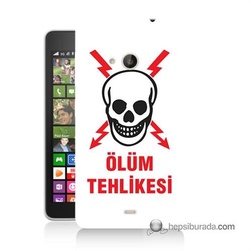 Teknomeg Nokia Lumia 535 Kapak Kılıf Ölüm Tehlikesi Baskılı Silikon