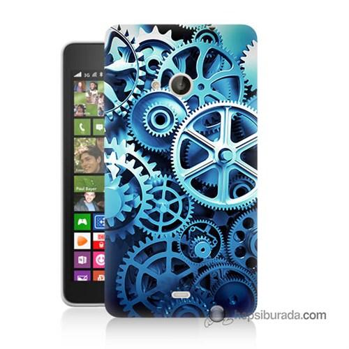 Teknomeg Nokia Lumia 535 Kapak Kılıf Çarklar Baskılı Silikon