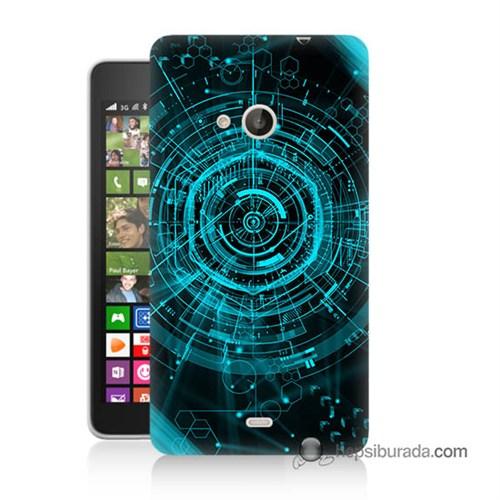 Teknomeg Nokia Lumia 535 Kapak Kılıf Asit Baskılı Silikon