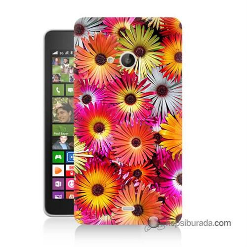 Teknomeg Nokia Lumia 535 Kılıf Kapak Kasımpatı Baskılı Silikon