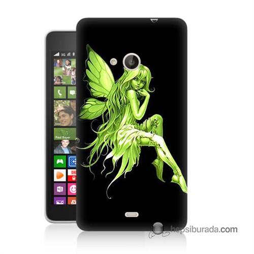 Teknomeg Nokia Lumia 535 Kapak Kılıf Peri Kızı Baskılı Silikon