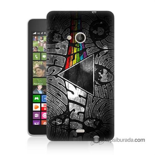 Teknomeg Nokia Lumia 535 Kapak Kılıf Pink Floyd Baskılı Silikon