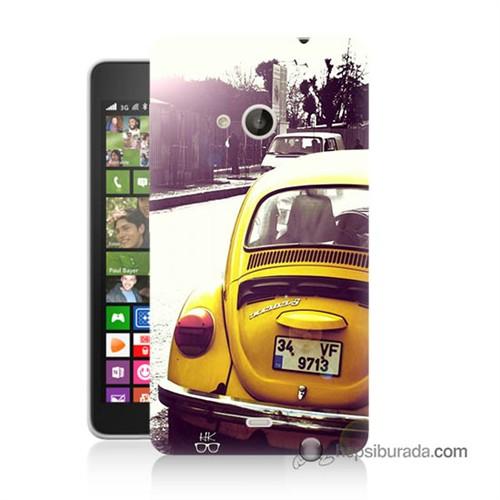 Teknomeg Nokia Lumia 535 Kılıf Kapak Volkswagen Baskılı Silikon