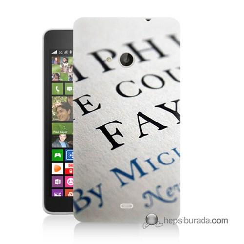 Teknomeg Nokia Lumia 535 Kapak Kılıf Yazılar Baskılı Silikon