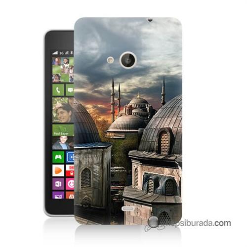 Teknomeg Nokia Lumia 535 Kapak Kılıf Cami Baskılı Silikon