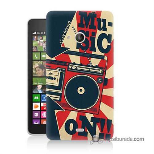 Teknomeg Nokia Lumia 535 Kapak Kılıf Müzik Baskılı Silikon