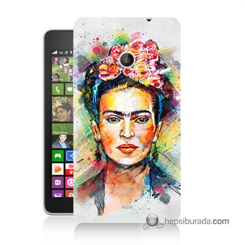 Teknomeg Nokia Lumia 535 Kapak Kılıf Frida Baskılı Silikon