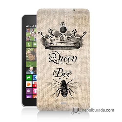 Teknomeg Nokia Lumia 535 Kılıf Kapak Queen Bee Baskılı Silikon