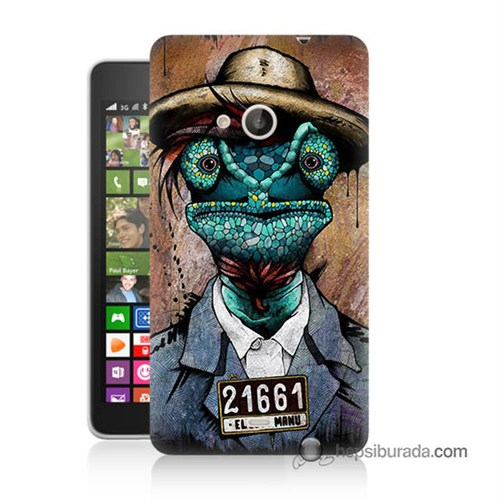 Teknomeg Nokia Lumia 535 Kılıf Kapak İguana Adam Baskılı Silikon