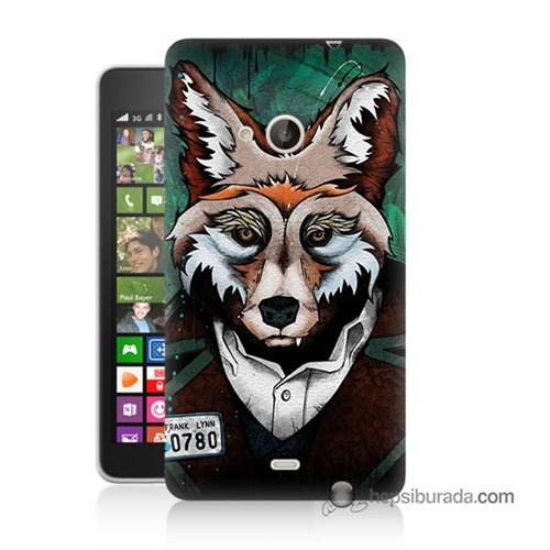 Teknomeg Nokia Lumia 535 Kılıf Kapak Bad Wolf Baskılı Silikon