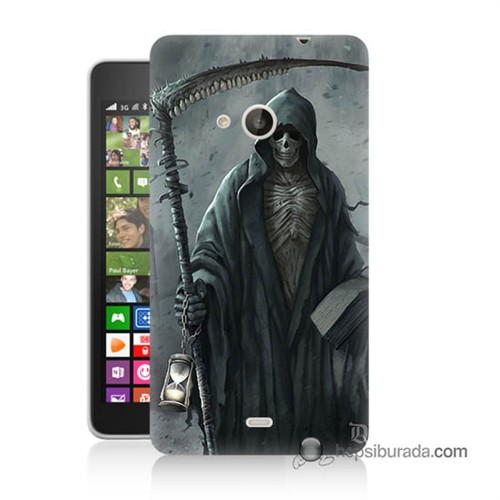 Teknomeg Nokia Lumia 535 Kılıf Kapak Azrail Baskılı Silikon
