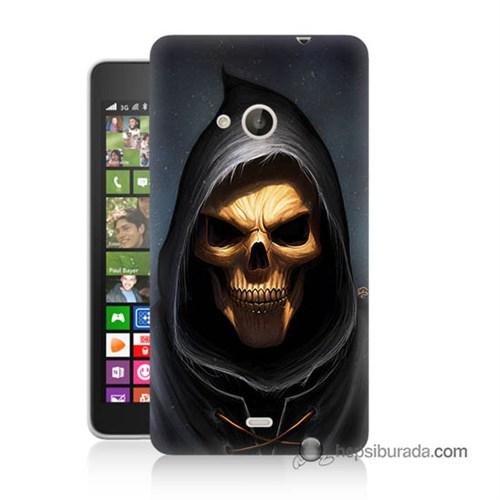 Teknomeg Nokia Lumia 535 Kılıf Kapak Ölüm Meleği Baskılı Silikon