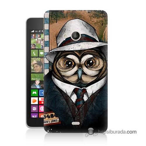 Teknomeg Nokia Lumia 535 Kapak Kılıf Crazy Jones Baskılı Silikon