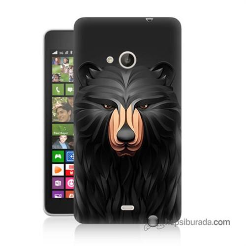 Teknomeg Nokia Lumia 535 Kapak Kılıf Boz Ayı Baskılı Silikon