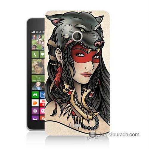 Teknomeg Nokia Lumia 535 Kapak Kılıf Pocahontas Baskılı Silikon