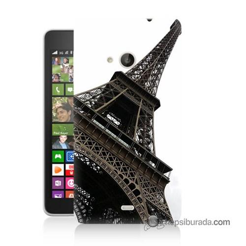 Teknomeg Nokia Lumia 535 Kapak Kılıf Eyfel Kulesi Baskılı Silikon