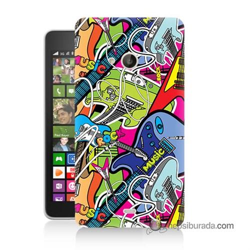Teknomeg Nokia Lumia 535 Kapak Kılıf Gitar Baskılı Silikon