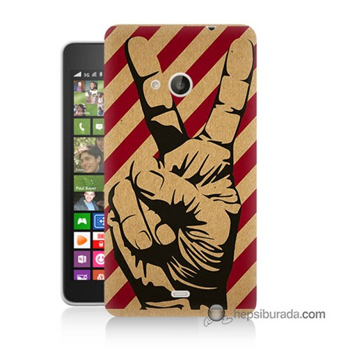 Teknomeg Nokia Lumia 535 Kapak Kılıf Zafer Baskılı Silikon