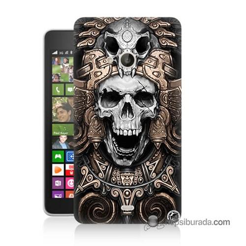 Teknomeg Nokia Lumia 535 Kılıf Kapak Kafatası Krallığı Baskılı Silikon