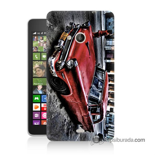 Teknomeg Nokia Lumia 535 Kılıf Kapak Klasik Araba Baskılı Silikon
