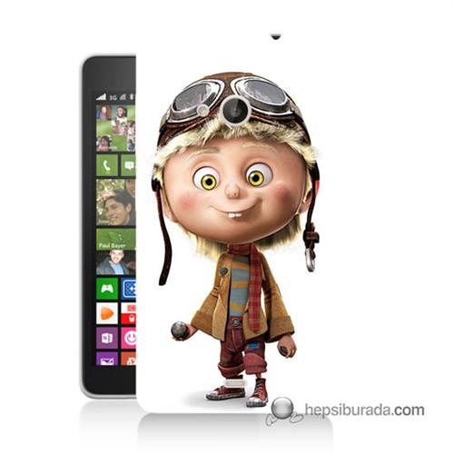 Teknomeg Nokia Lumia 535 Kılıf Kapak Çizgi Karakter Baskılı Silikon