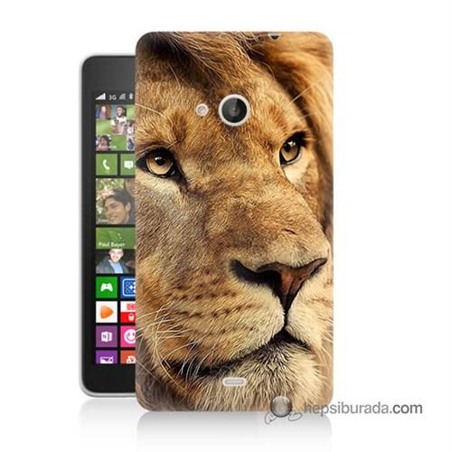 Teknomeg Nokia Lumia 535 Kapak Kılıf Aslan Baskılı Silikon