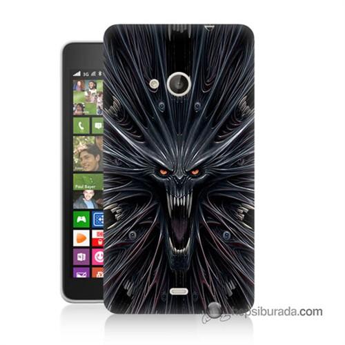 Teknomeg Nokia Lumia 535 Kılıf Kapak Korku Canavarı Baskılı Silikon