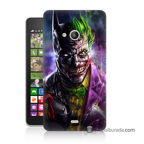 Teknomeg Nokia Lumia 535 Kılıf Kapak Batman Vs Joker Baskılı Silikon