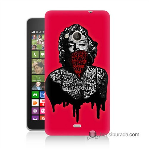 Teknomeg Nokia Lumia 535 Kapak Kılıf Marilyn Monroe Baskılı Silikon