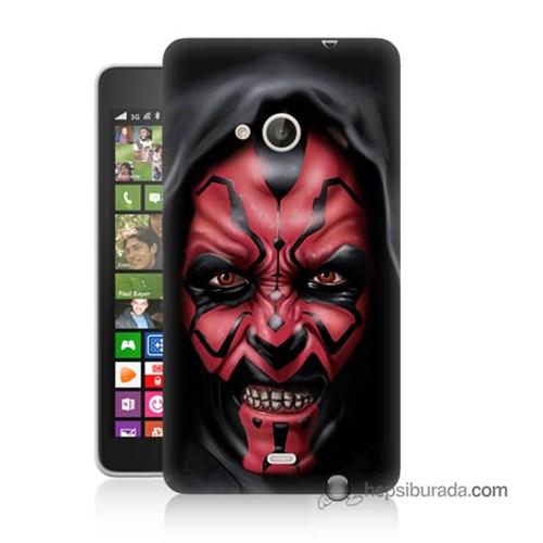 Teknomeg Nokia Lumia 535 Kılıf Kapak Starwars Güç Uyanıyor Baskılı Silikon