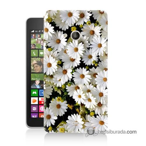 Teknomeg Nokia Lumia 535 Kılıf Kapak Papatyalar Baskılı Silikon