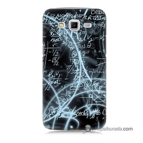 Teknomeg Samsung Galaxy Grand 2 Kapak Kılıf Matematik Baskılı Silikon