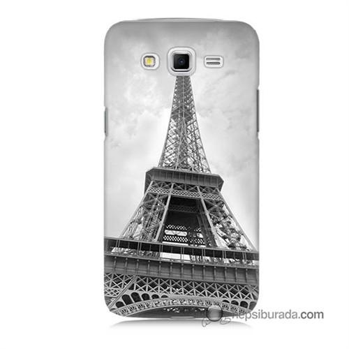 Teknomeg Samsung Galaxy Grand 2 Kapak Kılıf Eyfel Kulesi Baskılı Silikon