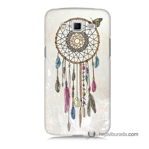 Teknomeg Samsung Galaxy Grand 2 Kapak Kılıf Dream Catcher Baskılı Silikon