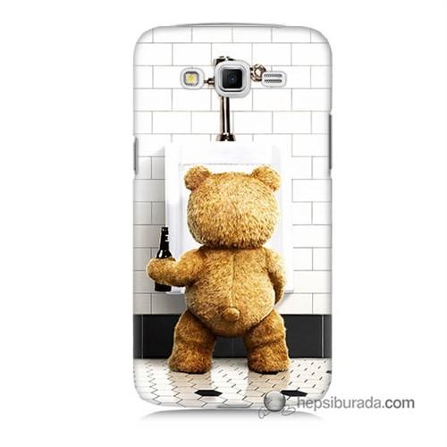 Teknomeg Samsung Galaxy Grand 2 Kılıf Kapak Tedy Bear Baskılı Silikon