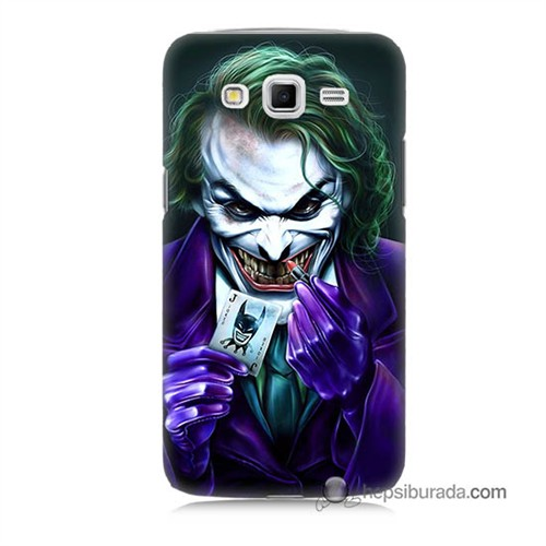 Teknomeg Samsung Galaxy Grand 2 Kapak Kılıf Joker Baskılı Silikon