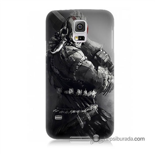 Teknomeg Samsung Galaxy S5 Mini Kılıf Kapak Tribal Warrior Baskılı Silikon