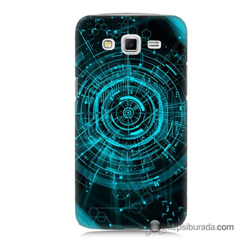 Teknomeg Samsung Galaxy Grand 2 Kapak Kılıf Asit Baskılı Silikon