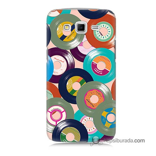 Teknomeg Samsung Galaxy Grand 2 Kapak Kılıf Renkli Plaklar Baskılı Silikon