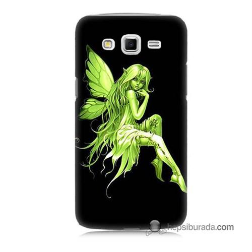 Teknomeg Samsung Galaxy Grand 2 Kapak Kılıf Peri Kızı Baskılı Silikon