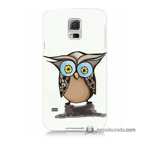 Teknomeg Samsung Galaxy S5 Mini Kapak Kılıf Baykuş Baskılı Silikon