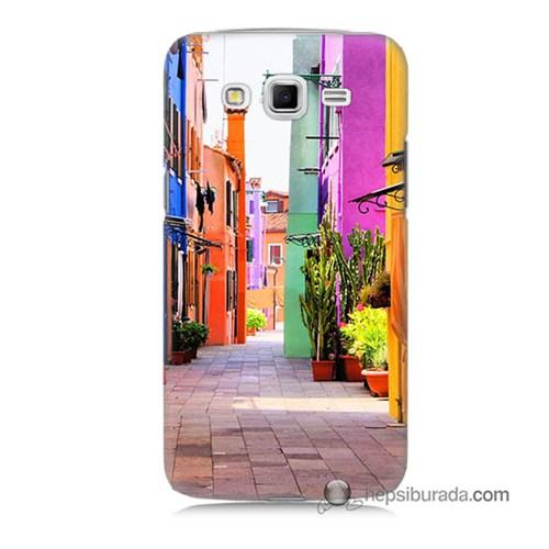 Teknomeg Samsung Galaxy Grand 2 Kılıf Kapak Sokak Baskılı Silikon
