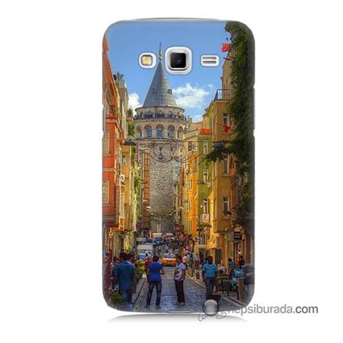 Teknomeg Samsung Galaxy Grand 2 Kapak Kılıf Galata Kulesi Baskılı Silikon