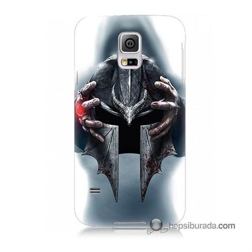 Teknomeg Samsung Galaxy S5 Mini Kılıf Kapak Assassins Creed Baskılı Silikon