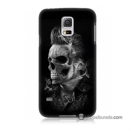 Teknomeg Samsung Galaxy S5 Mini Kapak Kılıf Elvis Presley Efsanesi Baskılı Silikon